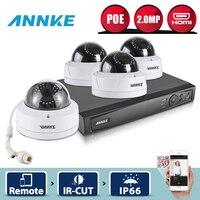 ANNKE 8CH HD 2.0MP 1080 P NVR комплект PoE IP Камера комплект Сети WDR Открытый безопасности Камера CCTV Системы POE удаленного наблюдения комплект