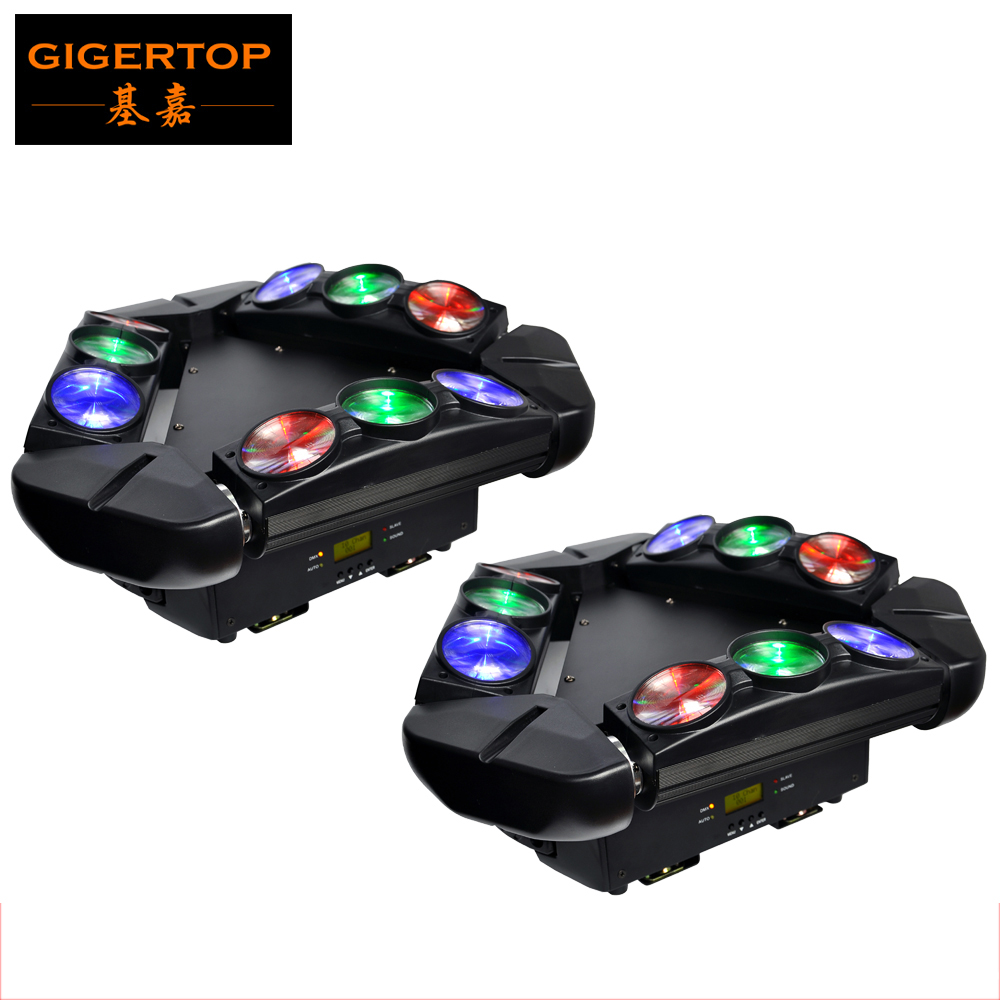 Freeshipping 2 Pack LED Infinite Rotated Beam Moving Head Spider Light USA Cree 9x10w RGBW 4in1 LED Endless Rotate Beam Effect  2pcs lot mini led infinite rotated beam moving head led spider light 9x10w rgbw led endless rotate beam effect dj disco lights