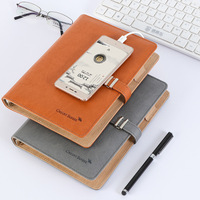 Personal Organizer Leather Business Ring Office Binder Portable Cute Kawaii Agenda Planner 2018 Travel Journal With