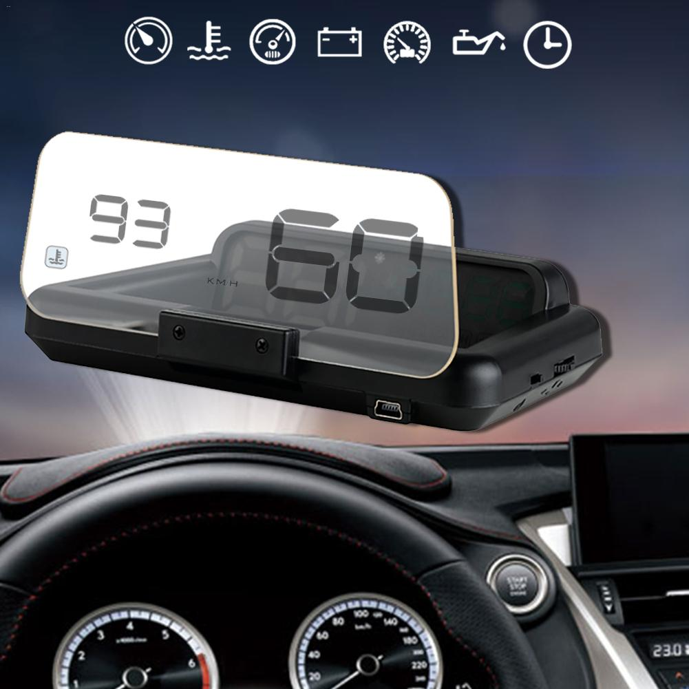 New OBD Car Speed Projector Hud Head Up Display Digital Speedometer OBD2 Diagnostic Tool c500 obd2 car speed projector hud head up display digital speedometer clock rpm for universal obd ii car electronics accessories
