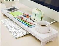 Yaratıcı Masa Organizatörleri Kutusu Basit ofis bilgisayar masaüstü klavye depolama Enkaz saklama Kutusu Raf Beyaz depolama Raf