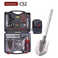 Turning Point, Multifunction Car Repair Tool Set Outdoor Camping Folding Shovel Car Toolbox tool bag Combination Tools Kit