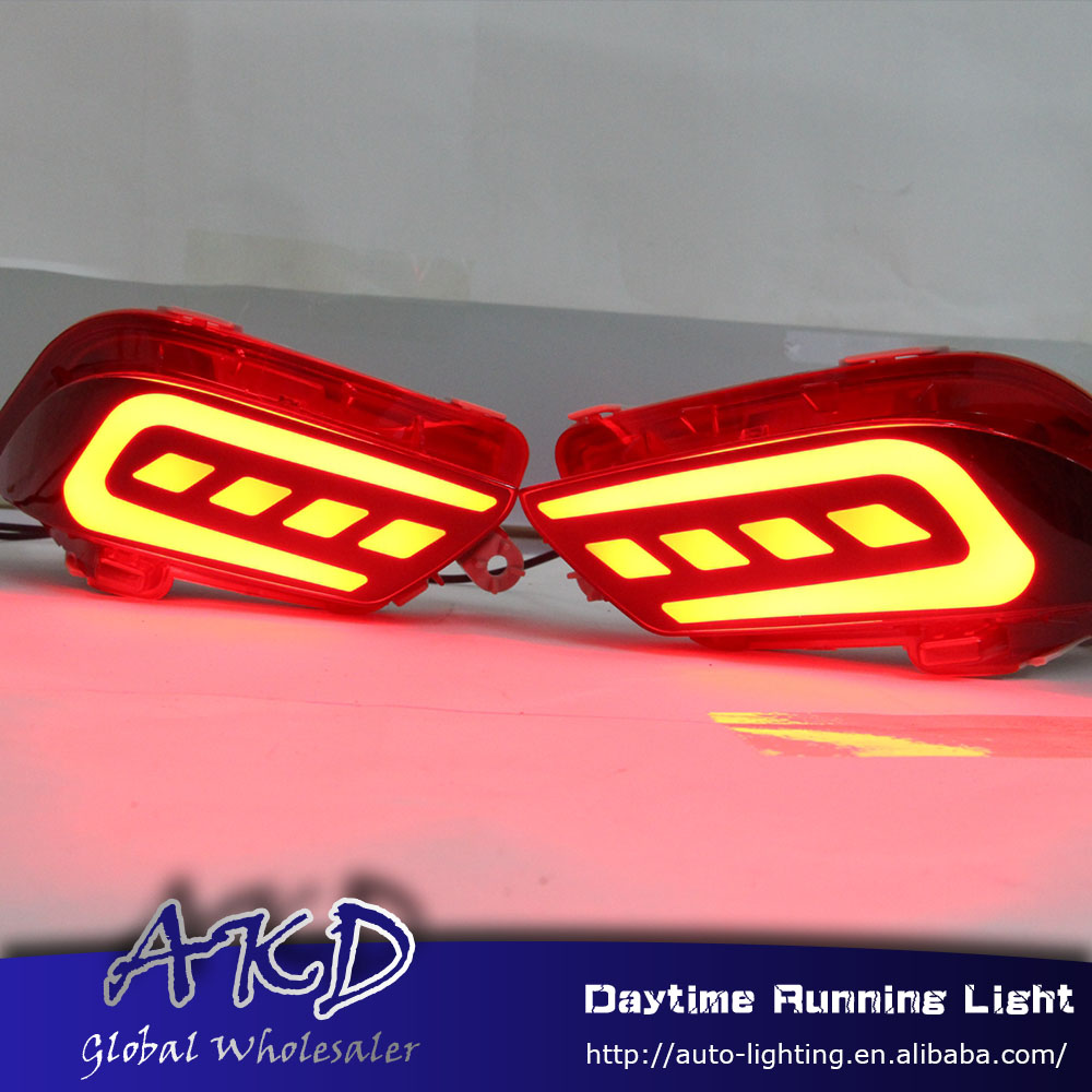 Reflector Brake-Lamp Rear-Bumper-Light Toyota for Vios DRL Car-Styling New