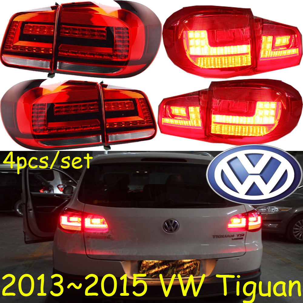 Tiguan taillight,2013~2015;Free ship!LED,4pcs/set,Tiguan rear light,Tiguan fog light;Tiguan tiguan taillight 2017 2018year led free ship ouareg sharan golf7 routan saveiro polo passat magotan jetta vento tiguan rear lamp