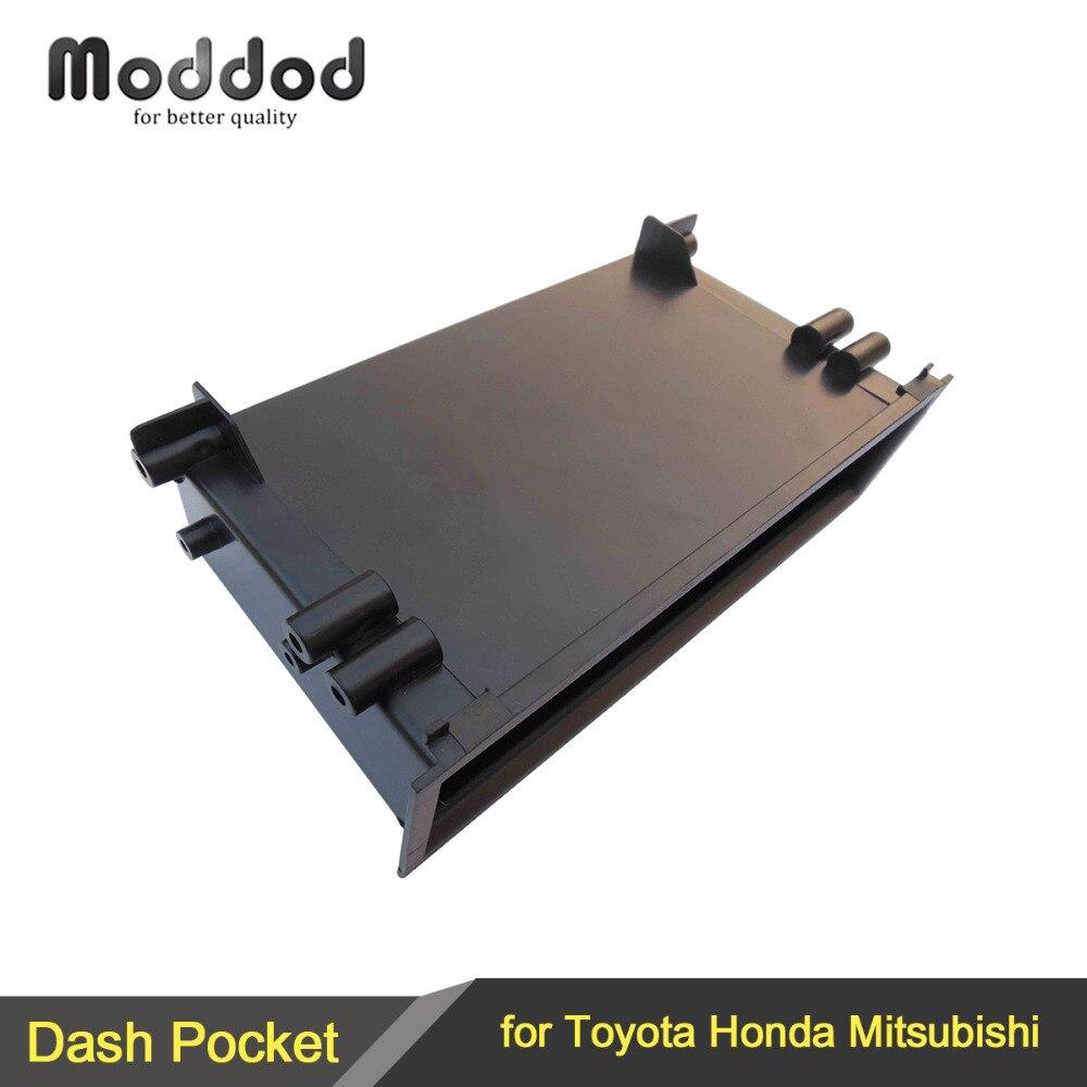 One Din Car Radio CD Refitting Pocket For Toyota Honda Mitsubishi Cars Stereo Dash Installation Mounting Trim Fascia Kit Drawer