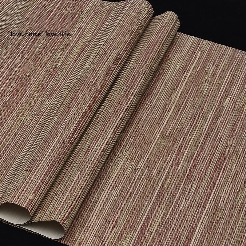 Southeast Asia Style Straw Natural Wallpaper Rolls for Living Room Background Natural Wall paper Wood wallcoverings home decor bacaz small dots cartoon wallpaper roll for child kids room background wall paper rolls 3d wallcoverings