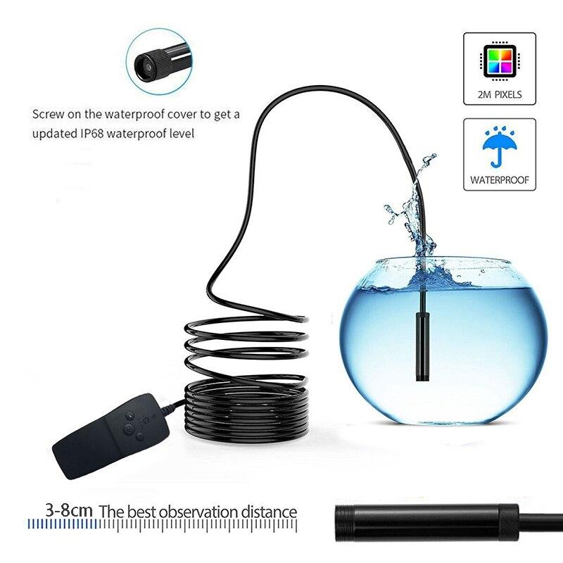 Lerbyee Wifi Endoscope Inspection Mini Camera Waterproof IP68 Semi rigid Wireless Borescope Video Inspection for font