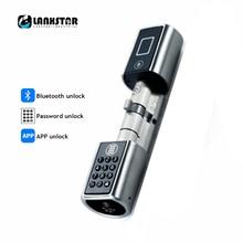 Micro Tipo Lockcore Inteligente Cerradura Contraseña Corazón Súper nivel C Cilindro cerraduras Electrónicas Inteligentes Anti-robo Puerta Lockcores