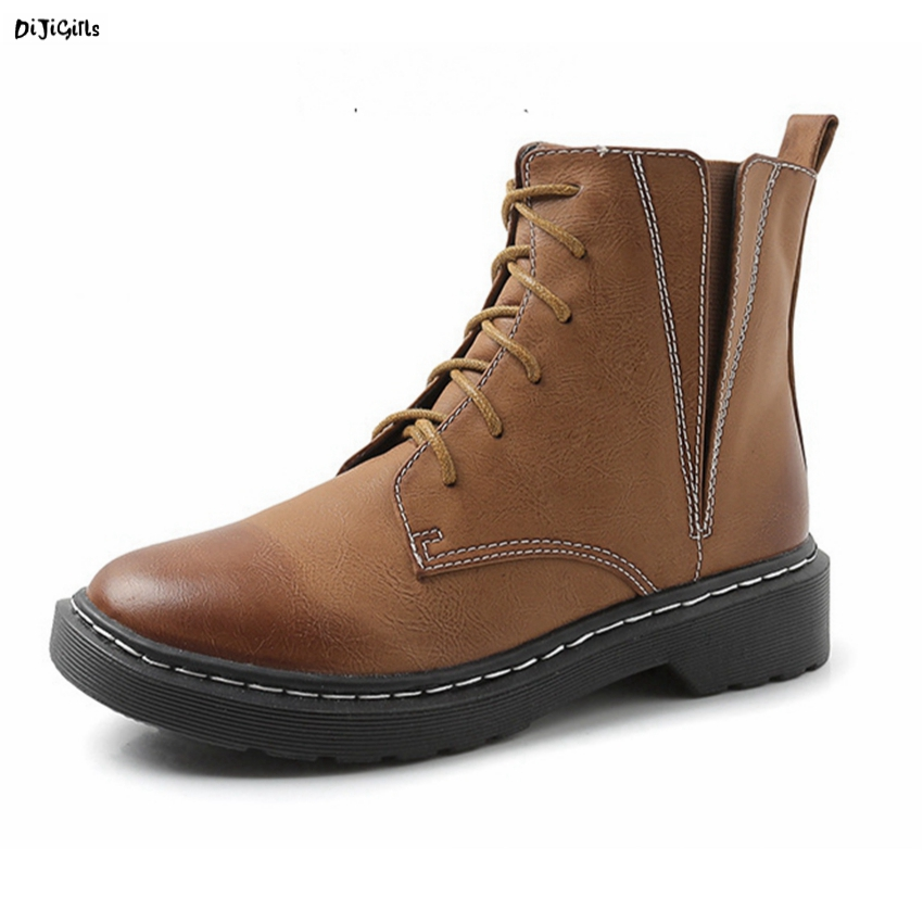 Women Fashion Ankle Boots Lace Up Plus Size Casual Shoes Martin Boots Short Booties for Winter Autumn hh10 front lace up casual ankle boots autumn vintage brown new booties flat genuine leather suede shoes round toe fall female fashion