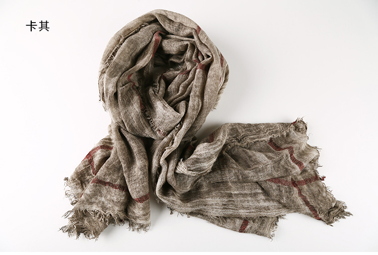 Men's Scarves Competent Fashion Classic Retro Plaid Scarf Cotton Linen Lady Men Autumn Multifunctional Soft Warm Long Scarf Multicolor Tassel Scarves Careful Calculation And Strict Budgeting