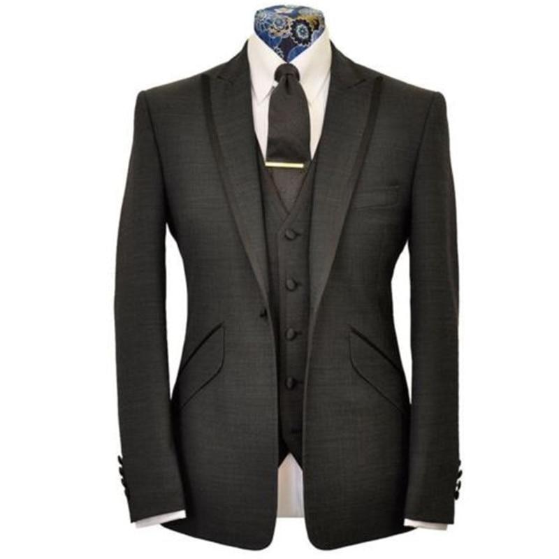 New Style Men Wedding Groom Tuxedos Groomsmen Best Man Suit Business Prom Tuxedo