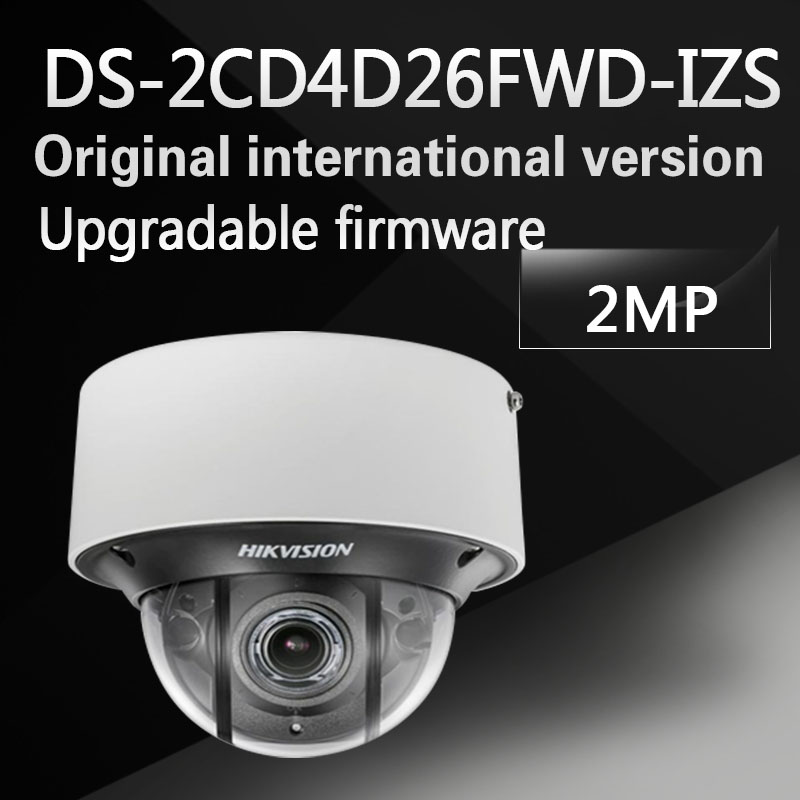 Free shipping DS-2CD4D26FWD-IZS English version 2MP Ultra Low Light Smart Dome IP Camera POE, up to 30m IR, H.264+, with audio hikvision ds 2df8223i ael english version 2mp ultra low light smart ptz camera ultra low illumination dark fighter