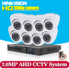 1080P 8CH AHD DVR HD CCTV Security Camera 8pcs Outdoor Bullet Day Night IR Surveillance Camaras