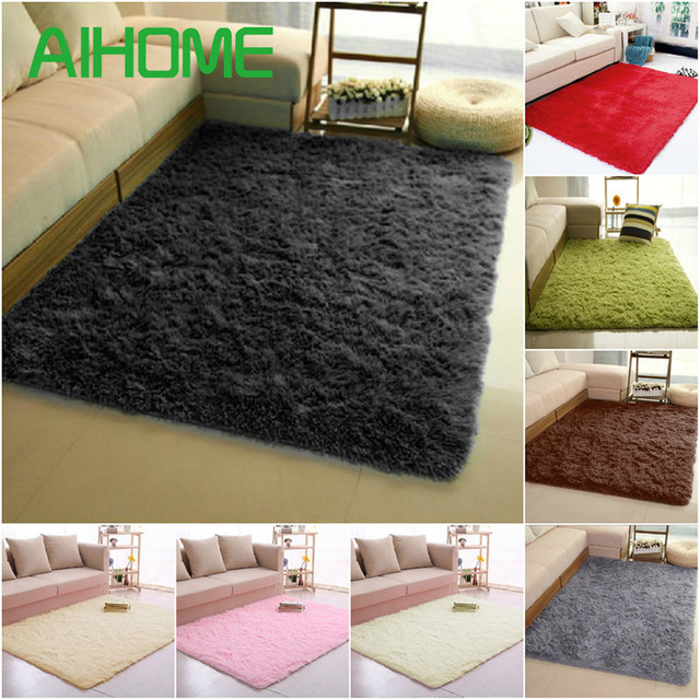 Super Soft Long Plush Silky Mat Carpet Mat Door Rugs Area Rug For Bedroom Living  Room