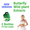 (2 bottles/lot) Herbal wild plant extracts lose weight butterfly bottle version 72 days supply for fast weight loss slimming