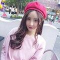 Корейский Стиль Vintage Женщин Шерсть Зима Теплая Беретом Шапочки Hat Cap Топ Продаж Harajuku Шляпа
