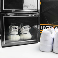 SupBro Anti Oxidation AJ Sneaker Collection Erect Display Shoe Cabinet Super Heavy Thick Material Top Grade Transparent Shoe Box