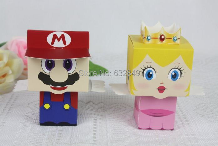 4 Super Mario box wedding boxes favour favors candy baby birth party gift - Yiwu Wedding&Baby Favors store