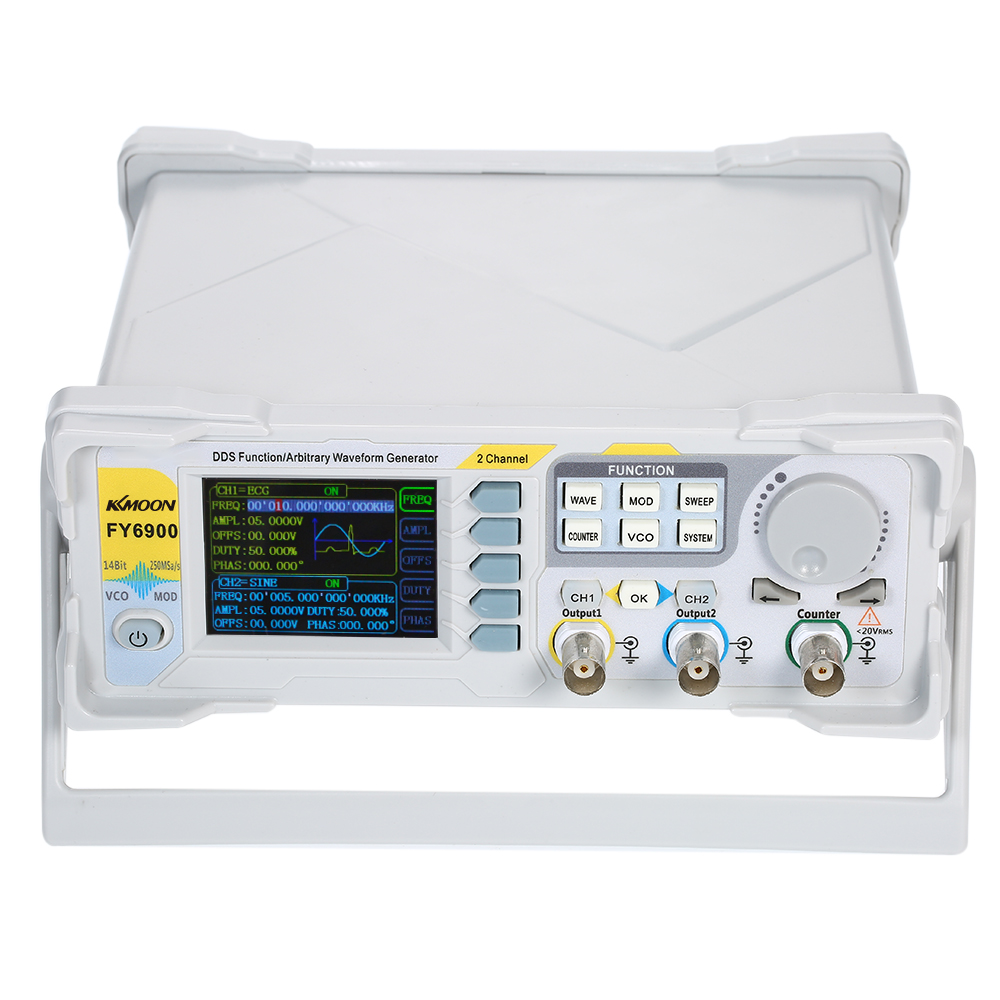 KKmoon 40MHz High Precision DDS Digital Signal Generator Dual channel Frequency Meter Modulation function Generator 250MSa