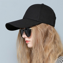 купить Summer Baseball Cap Hat Men Cap 2019 Snapback Hip Hop For Women Hats Dad Male Mens Female 11CM Long Wide Brim Bonnet Gorras по цене 800.46 рублей