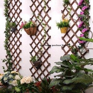 Expanding Wooden Garden Wall Fence Panel Plant Climb Trellis Support Decorative Garden Fence for Home Yard Garden Decoration