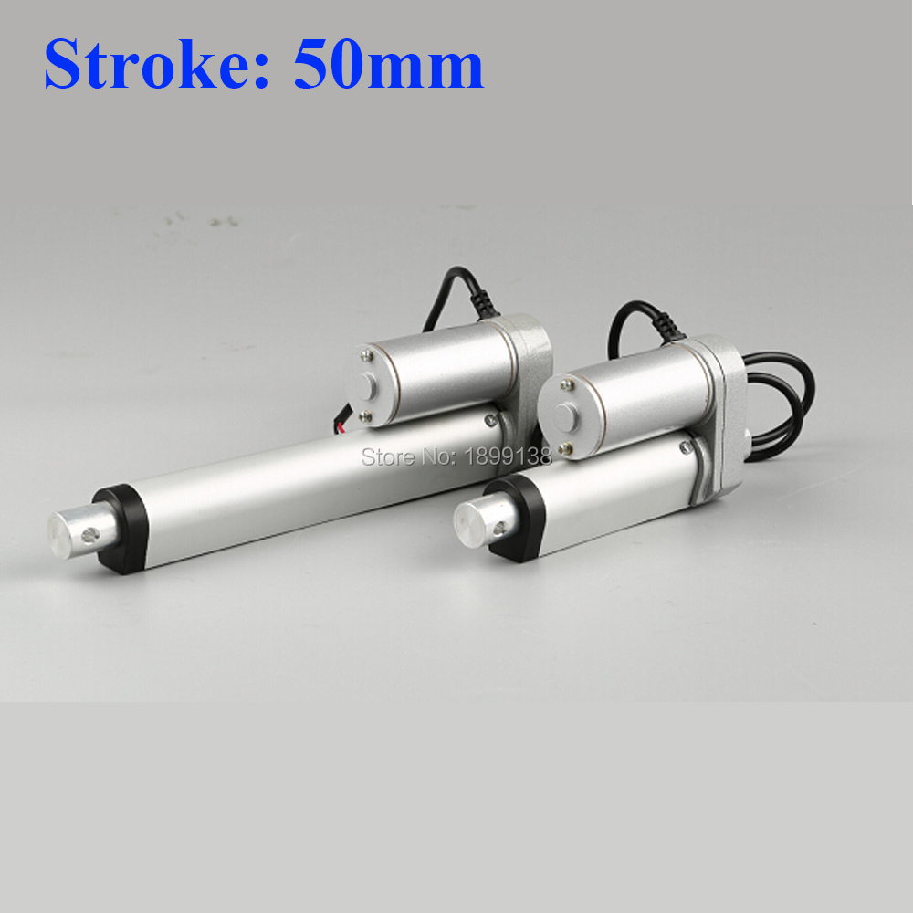 Electric Linear actuator 50mm Stroke linear motor controller dc 12V 24V 36v 200/350/400/600/700/750N цены