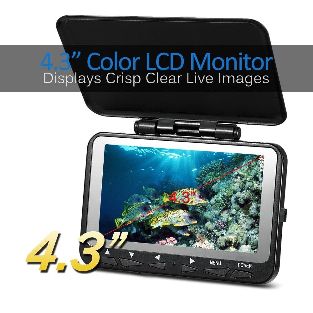 "4.3/"" LCD Monitor 15M 1000TVL Fish Finder IR LED Night Vision Camera Underwater"