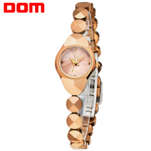 DOM women luxury brand waterproof style quartz watch Tungsten steel gold nurse watch bracelet women W-735CK-9M