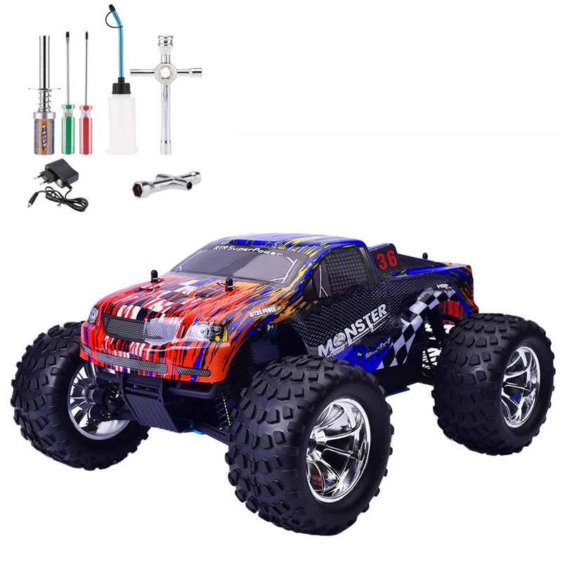 HSP Rc Car 1/10 Scale Nitro Gas Power Off Road Monster Truck 94188 4wd High Speed Hobby Remote Control Car 02023 clutch bell double gears 19t 24t for rc hsp 1 10th 4wd on road off road car truck silver