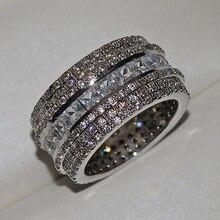 Luxury Shiny CZ Zircon Ring For Women Bridal Wedding Engagement Promise Female Fashion Jewelry Size 6 to 10 цена