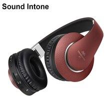Звук интонировать P1 Беспроводной Bluetooth наушники с микрофоном Поддержка TF карты FM Радио стерео гарнитура для iPhone Xiaomi Samsung