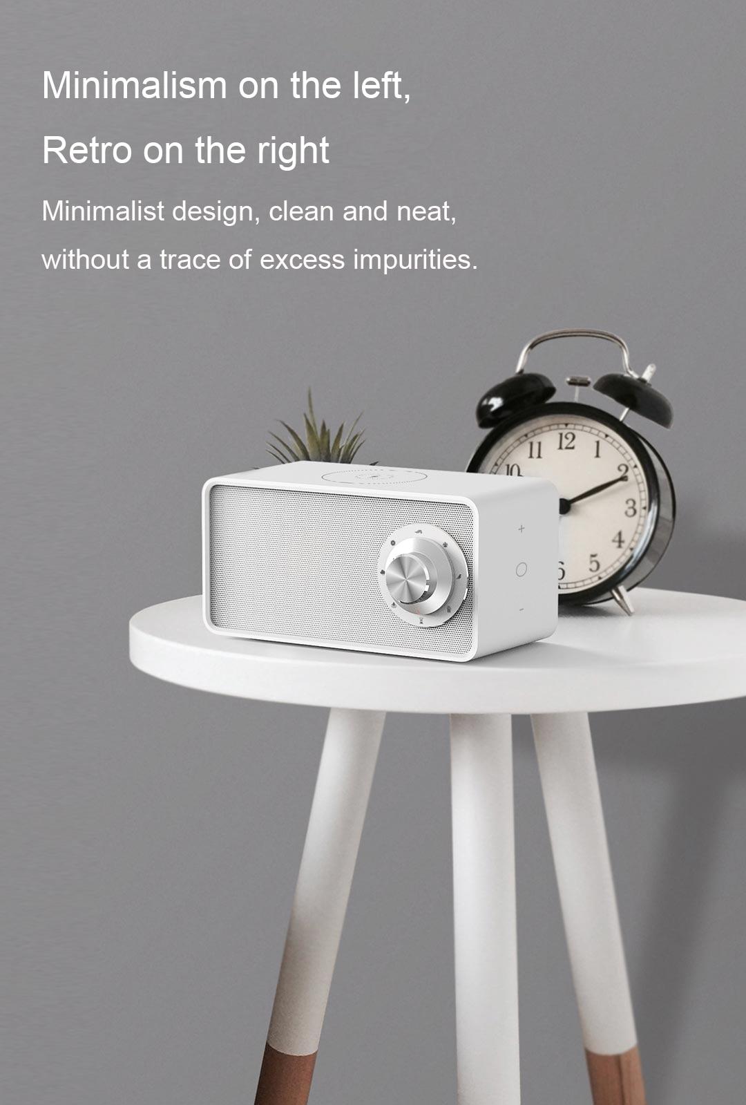 Bluetooth Speaker Retro Silver
