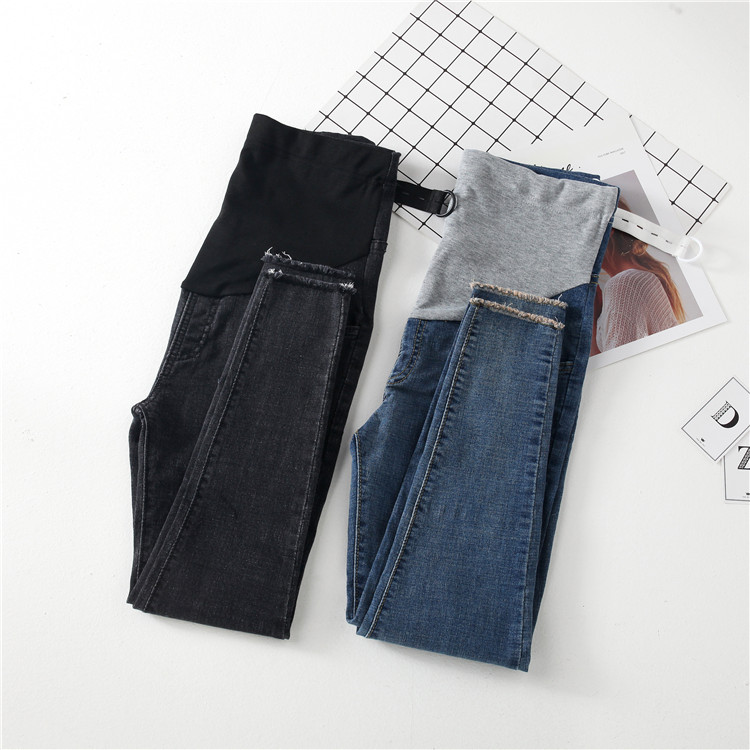 Spring Maternity Jeans for Pregnant Women Pregnant Pants Prop Belly Legging Trousers Maternity Clothes Pregnancy Clothing C207 maternity pants for pregnant women pencil jeans 2018 spring summer belly legging pregnancy trousers overalls clothes white black