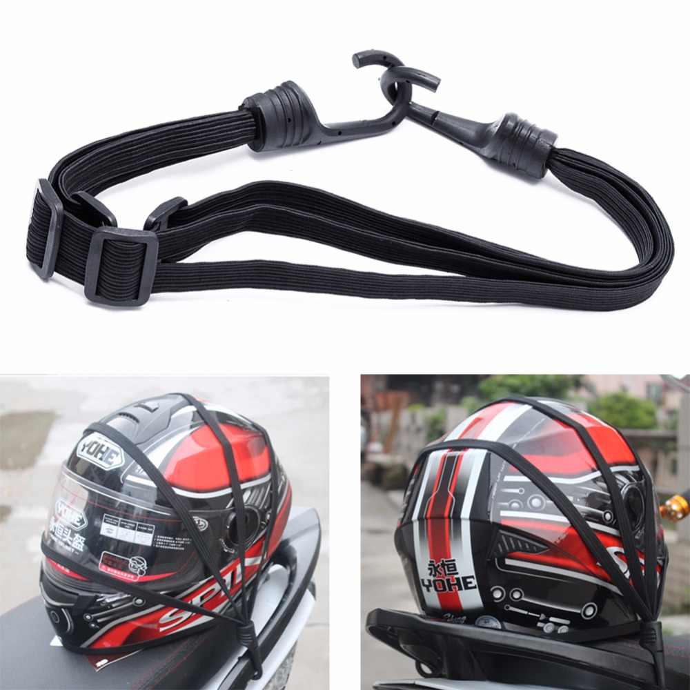 Motorcycle Flexible Retractable Helmet Luggage Elastic Rope Strap With 2 Hooks New hot sell