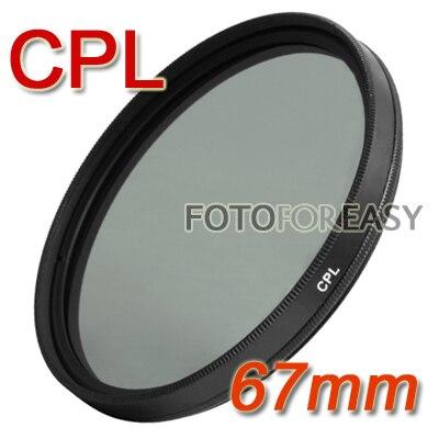 Gros Fotga 67mm CPL Polarisant Circulaire C-PL PL-CIR CPL Filtre pour Objectif 67mm pour CANON NIKON SONY FUJI Appareil Photo REFLEX NUMÉRIQUE