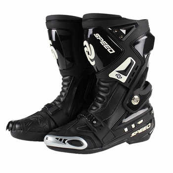 Pro-biker Motorcycle Protective Gear boots Speed botas Racing off Road Racing Shoes Microfiber Leather Motorcycle boots - DISCOUNT ITEM  29% OFF All Category