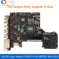 Laptop Motherboard For MacBook Pro A1278 Logic Board 13' MD101 4G i5 2.5GHZ 820 3115 A Mid 2012