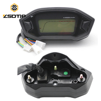 ZSDTRP Universal Motorcycle LCD Digital Speedometer Motorcycle Odometer for 2 4 Cylinders Motorcycle Meter 13000RPM