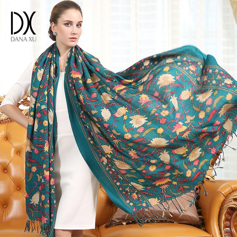 Луксозна марка шал унисекс 2019 женски мъж най-добро качество вълна кашмир шал пашмина пискюли жени мъже обвивам голям размер 245 * 110 см