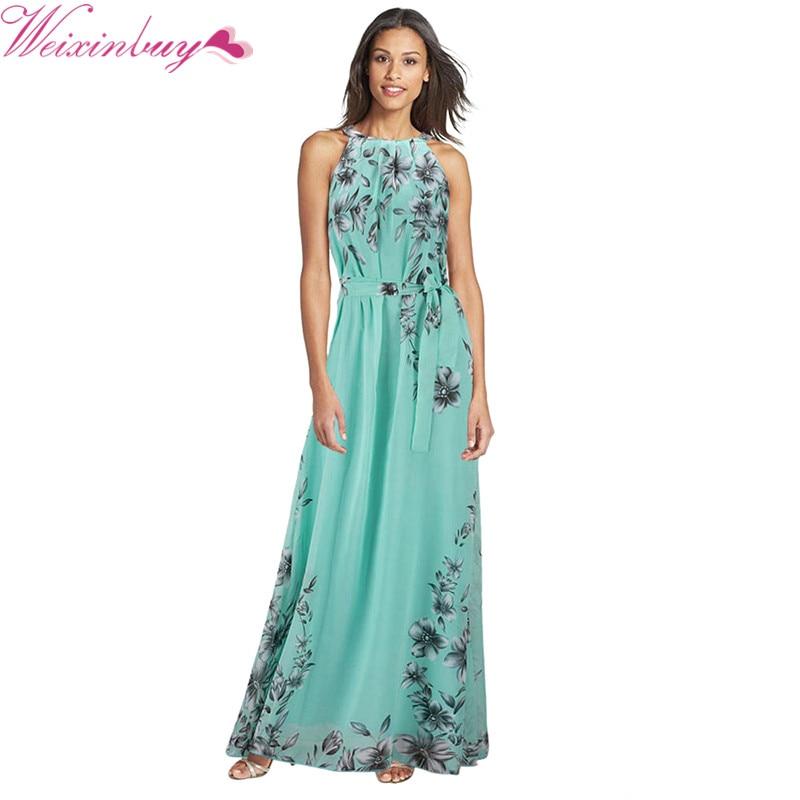 e1e6d30ec0052 Big Size Fashion Flora Printing Maxi Dresses Long Chiffon Sundresses Fashion  Women Summer Style Female Girl Boheminan Dress XN4 | JUANEVA