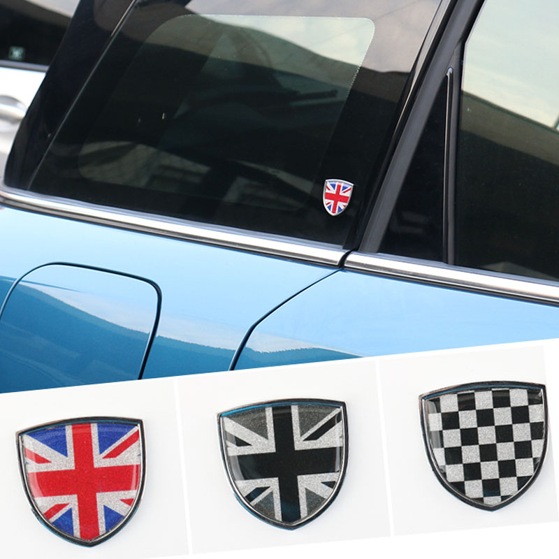 Car Metal Emblem Badge Sticker Decals Decorative For Mini Cooper JCW One Countryman Clubman F55 R60 F60 Car Styling Accessories aliauto car styling side door sticker and decals accessories for mini cooper countryman r50 r52 r53 r58 r56