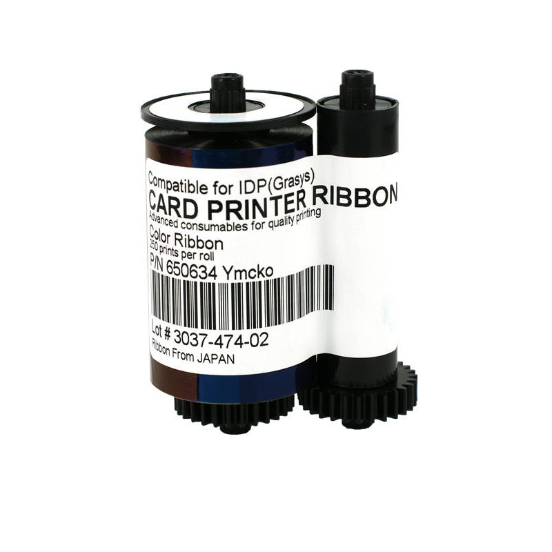 compatible IDP Smart 650634 YMCKO Ribbon Compatible for IDP 30S 30D 50S 50L Card Printer 650643 with cleaning kits