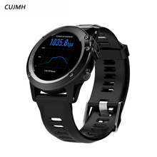 CUJMH H1 Smart Watch Android 4.4 Waterproof 1.39″ MTK6572 BT 4.0 3G Wifi GPS SIM For iPhone Smartwatch Men Wearable Devices