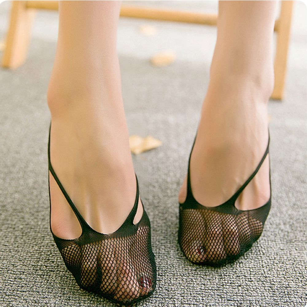 Summer fashion non slip invisible boat socks women flowers