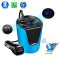 Transmetteur 2019 FM lecteur MP3 musique Bluetooth   Kit de voiture  mains libres appel  adaptateur allume-cigare  séparateur  2 Ports USB