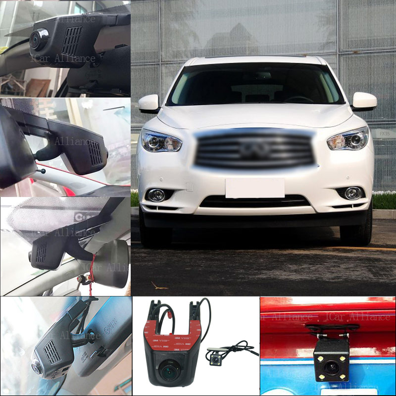 BigBigRoad For Infiniti JX35 APP control Car Wifi DVR video registrator Car Parking Camera Dual lens Car Black Box g-sensor bigbigroad for toyota sequoia car parking camera app control car wifi dvr video recorder dual lens car black box camcorder