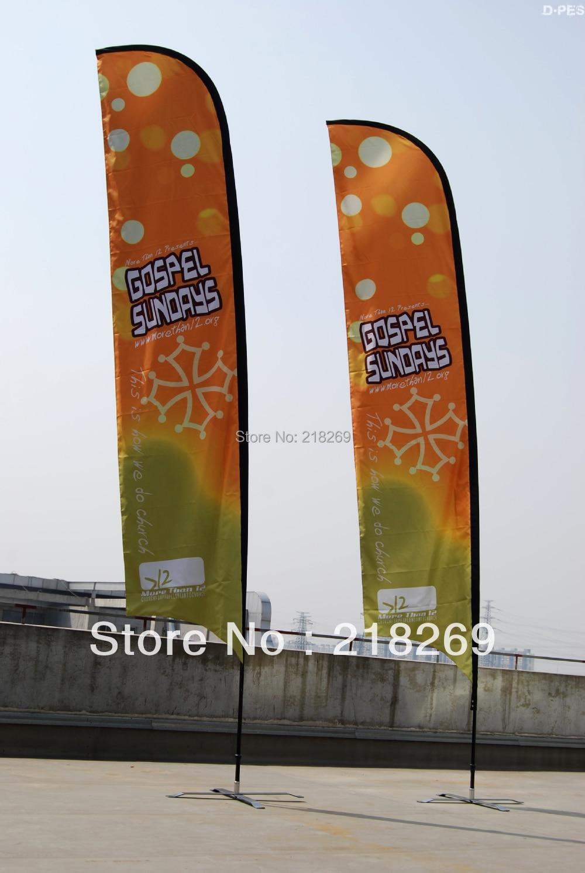 4 m Sur Mesure de haut impression Plume drapeau, Imprimé des Deux côtés, Plage drapeau, bannière Extérieure, logo drapeau avec livraison gratuite