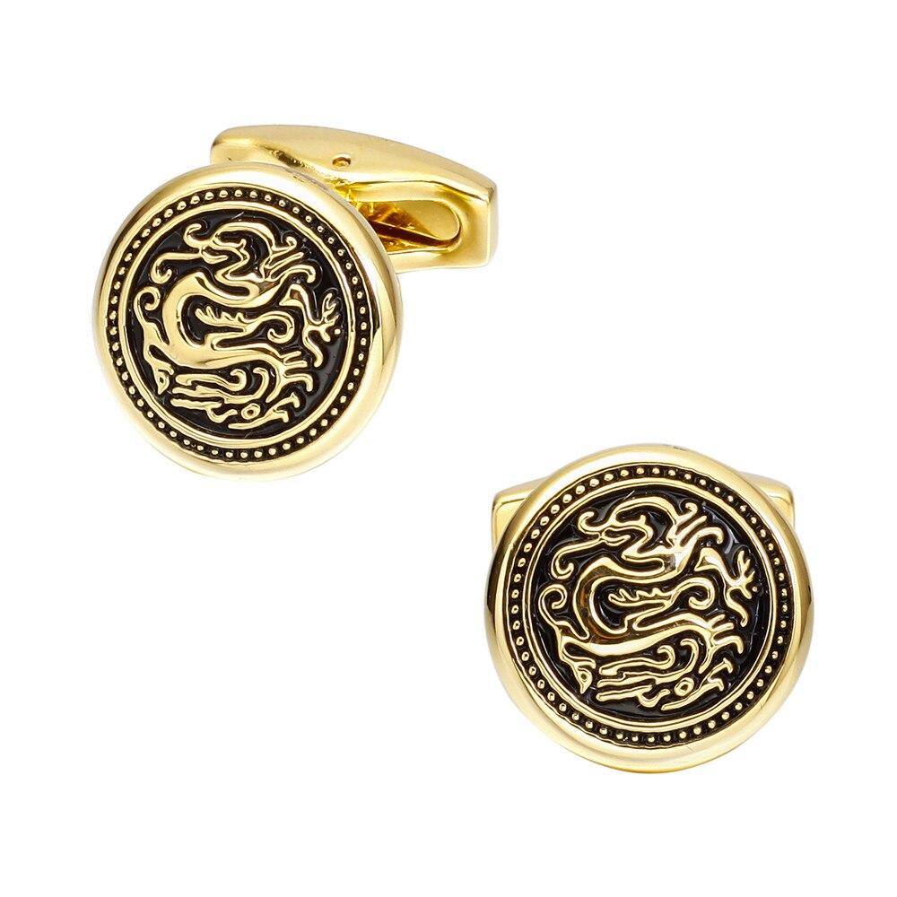 MeMolissa Personalized Cufflinks Golden Dragon Cuff Links for Mens ...