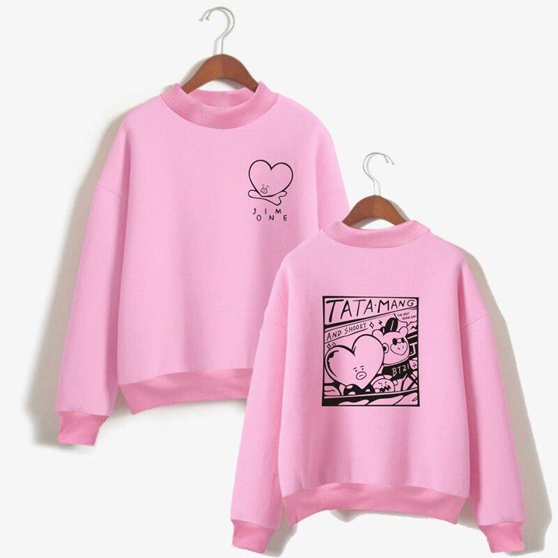 Korean Groups Oversize Clothes Drop ShippingWomen Turtlenecks Sweatshirts Hoodies Outwear Loose
