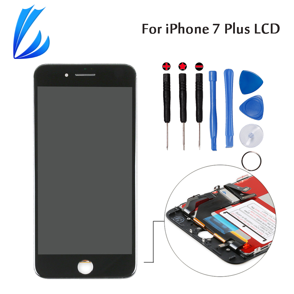LL TRADER For IPhone 7 Plus LCD Display Screen Touch 7 Plus Digitizer Assembly Mobile Phone Parts Replacement Quality AAA+Tools